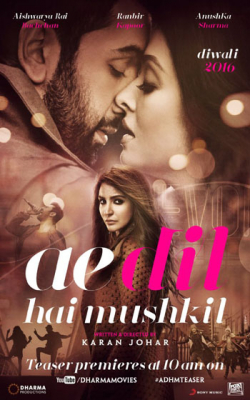 Ae Dil Hai Mushkil is the best movie in Ranbir Kapoor filmography.