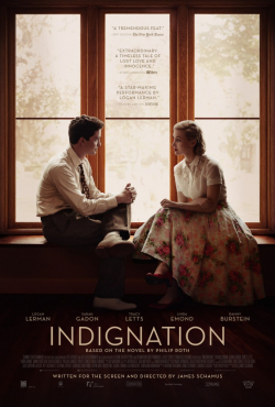 Indignation - movie with Logan Lerman.