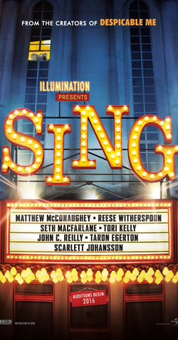Sing - movie with Seth MacFarlane.